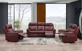 powereclining leather sofa dual with