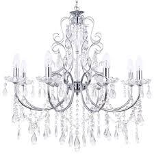 madonna dual mount chandelier 8 light chrome