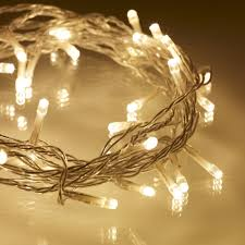 fairy lighting. 40 warm white led indoor fairy lights on clear cable lighting