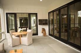 patio with glass sliding doors