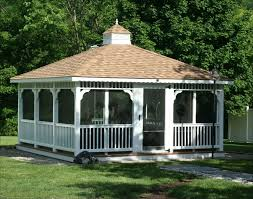 gazebo glass. an enormous screened in rectangular gazebo at the end of a gravel and flagstone pathway glass