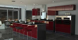 Homely Ideas Dark Red Kitchen Colors 22 Inspiration Dark Red Kitchen Colors  Color Schemes Amazing Design ...