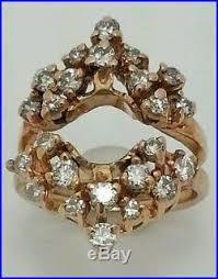 diamond cer enement ring guard approx 2 0ct tcw vine estate antique