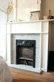 marble tile fireplace before and after the house book carrara surround