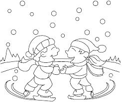 Kleurplaten Winter Kleurplaten Schaatsen