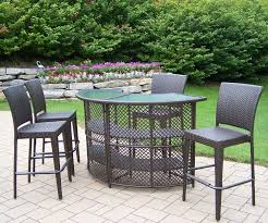 patio furniture bar height table