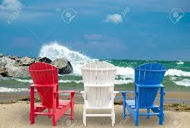 adirondack chairs on beach. Adirondack Chairs On The Beach With Waves Stock Photo - 30151564 Adirondack S