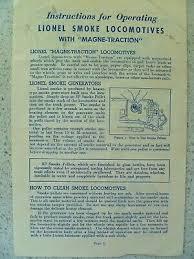 Lionel Traction Tire Chart Vintage 1961 Lionel Trains Locomotives 1060 1062 1130