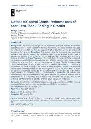 Crobex Index Chart Pdf Statistical Control Charts Performances Of Short Term