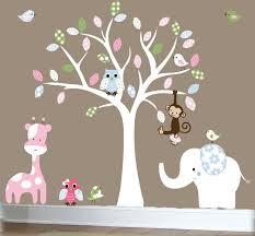tree wall decals for nursery jungle wall decal nursery white tree
