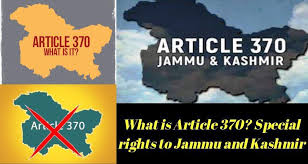 Image result for 370 articles implemented in Jammu and Kashmir