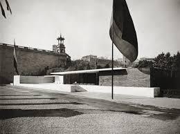 ludwig mies van der rohe barcelona. Ludwig Mies Van Der Rohe, Barcelona Pavilion, 1928\u201329. Exterior View From Rohe E
