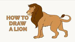 easy lion drawings. Wonderful Easy How To Draw A Lion  Easy StepbyStep Drawing Tutorial For Kids And  Beginners Intended Drawings F