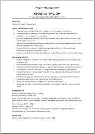 Sample Resume Property Manager Ataumberglauf Verbandcom