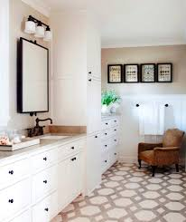 Mosaic Tile Kitchen Floor Pictures Of Brown Cabinet With With White Floor Tiles Inviting