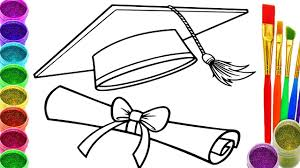 Small Picture How to Draw Graduation Cap Coloring Book Graduation Cap Coloring