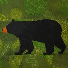152 best BEARS PAW QUILTS images on Pinterest | Bandana quilt ... & Black Bear paper-piecing Adamdwight.com