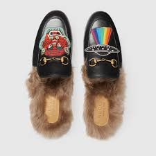 gucci ufo. gucci princetown leather slipper with appliqués detail 3 ufo