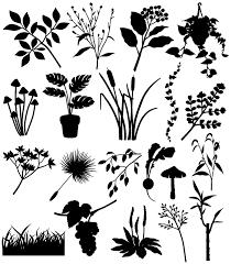 植物のシルエット素材集植物のイラストのフリーダウンロード素材