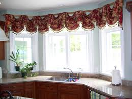 Kitchen Drapery Bay Window Kitchen Curtains Ideas