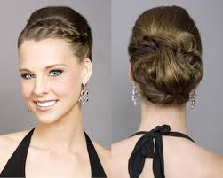 Updo Side Hairstyles Side Braided Updo Wedding Guest Hairstyles For