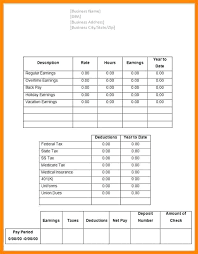 Pay Stub Templates Excel Pay Stub Template Excel Sample Fillable Free Word 9