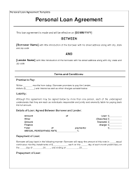 Personal Loan Contract Agreement Free personal loan agreement form template 244 Approved in 24 1