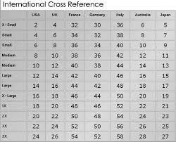 Ben Marc Size Chart Designer Size Charts