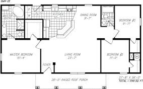 small single story open floor plans