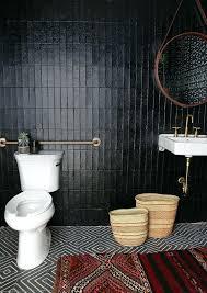black tile bathroom 8 bathrooms that will make you swoon black bathroom tile black white tile