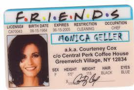 Show Friends Courtney D Cox Card Geller Tv Of Monica Id