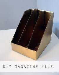 Magazine Holder Cardboard Cardboard The Thrifty Ginger 53