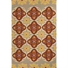 jaipur barcelona tribal pattern polypropylene red yellow indoor outdoor rug ba46
