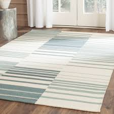 Striped area rug Depot Wayfair Safavieh Kilim Blue Ivory Striped Area Rug Wayfair