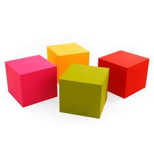 ... Contemporary pouf / coated foam / square / garden LOVELY CUBE Foam Tek