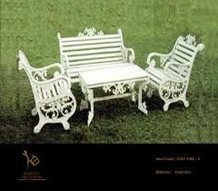 garden furniture circular cast iron