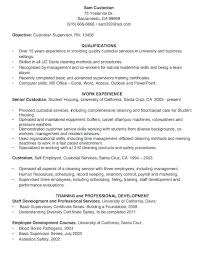 Custodial Supervisor Cover Letter Sample Cleaning Resume Cocinacolibri Com