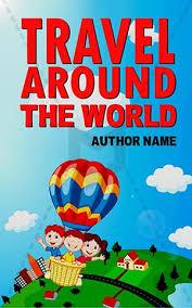 children book cover adventure kids balloon travel sky