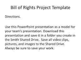 Bill Of Rights Powerpoint Ppt Bill Of Rights Project Template Powerpoint Presentation Id