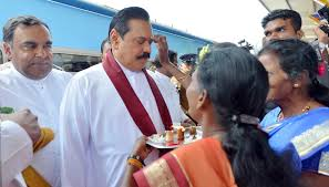 Image result for Mahinda Rajapaksa in Jaffna