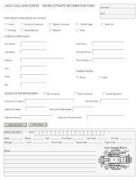 best photos of auto repair estimate template auto body auto body estimate form template
