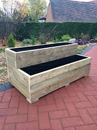 tiered garden planter best wooden garden planters ideas on wood 3 tier outdoor wall planter
