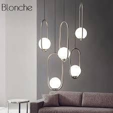 nordic italy designer pendant light loft simpel ring hanging lamp creative studio living room cafe led glass ball light fixtures hanging lamp shade copper