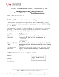 Skills And Accomplishments Resume Examples Resume Templates