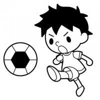 サッカーボール かわいい無料イラスト使える無料雛形テンプレート