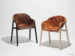 Unique Chair with Hardened Leather as Seating