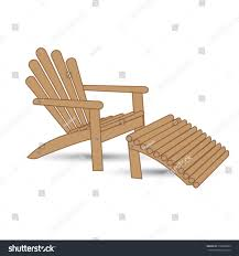 picture garden lounger rattan benches wood bench cushions seater chair covers argos toronto wooden armchair footrest stock vector