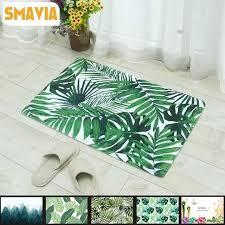green leaf rug green leaf flannel carpet thicken soft anti skid kitchen bathroom rug office bedroom
