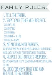 Irocksowhat Family Rules Printable Looks A Lot Like Our