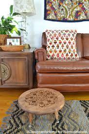 Boho Eclectic Decor Remodelaholic Diy Stool With Wood Burned Design